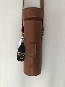 Primeware Inc Enclave Leather Wine Tote Single Bottle Carrier - Brown Picnic