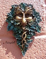 Oak Guardian Green Man of The Forest Wall Plaque Tree Spirit Wood Sprite Pagan