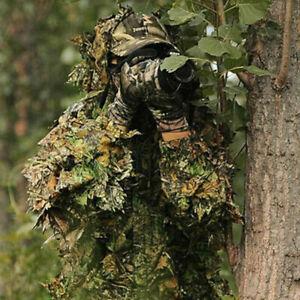 3D Ghillie Suit woodland Dschungel Tarnanzug Kleidung Camo Camouflage Jagd DHL