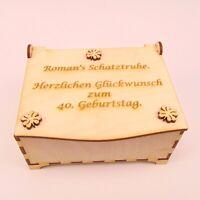 """Geschenk """" Zum Geburtstag """" Schatulle 40 50 60 30 18 Personalisiert mit Namen"""