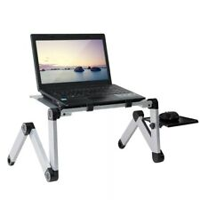 Portable Adjustable Aluminum Laptop Desk Stand Table Vented Ergonomic Bed, Sofa