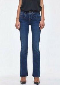 LTB Jeans Valerie X Bootcut Mid Rise Denim Damen Hose Stretch Dark Blue Used L32