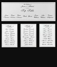 Wedding Table Plan Cards - Wedding Seating Plan Cards - DIY Wedding Table Plans