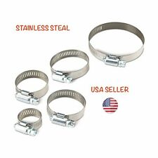 22 Assorted Stainless Steel Hose Clamps