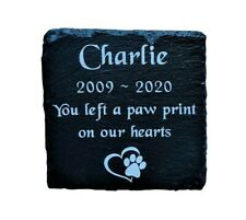 Personalised Engraved Slate Pet Memorial Grave Marker Headstone Plaque Dog/ Cat