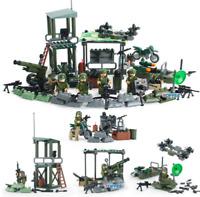 SET 4 in 1 Battle Line Military Soldier Army World War 2 SWAT Lego Toys Custom