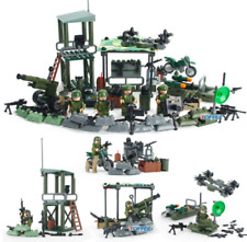 SET 4 in 1 Battle Line Military Soldier Army World War 2 SWAT Toys Custom