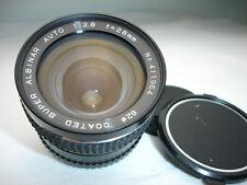 ALBINAR 28mm f 2.8 LENS, MINOLTA MD camera mount  62mm filter ring SN411964