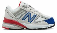 New Balance Kid's 990v5 Infant Boys Shoes Grey with Blue