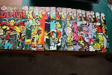 The Demon comic lot #1-16 ungraded but all purchased new and stored in poly bags