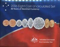 Australia, 2006 Uncirculated Mint set of 8 coins