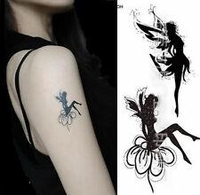 Tattoo Temporary Black Fairy Body Art Tattoo Festival Party UK