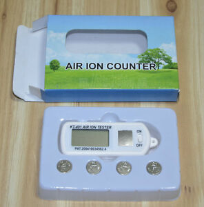 KT401 mini air ion tester, show high concentrations of air +/- ion