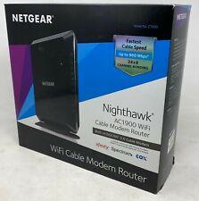 NETGEAR Nighthawk Dual-Band AC1900 Router w/ 24 x 8 DOCSIS 3.0 Cable Modem (VG)
