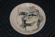"""YOVANI BAUTA ceramic PLATE.Cuban American fine Art""""Tonito""""Portrait.Plato.Artwork"""