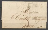 1828 Lettre cachet d'essai ROUEN 74/8 FEVRIER 1828, TB/SUP X4160