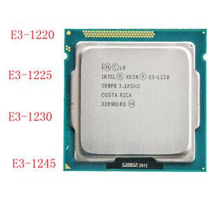 Intel Xeon E3-1220 1225 1230 1240 1245 LGA1155 Quad-Core desktop CPU Processor