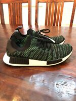 adidas Boost Mens Shoes  10.5  NMD_R1 STLT PK Black/Green Primeknit ORIGINALS