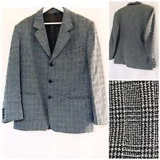 """Men's Suit Jacket Authentic Vintage Spanish Wool Blend 40"""" Chest Black & White"""