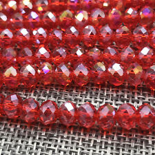 DIY 6mm 50pcs Crystal Flat Beads Spacer Loose Beads Jewelry Making wholesale#32