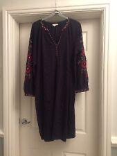 Monsoon Size 18 Floral Pattern Black Dress