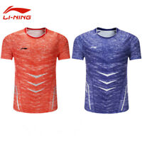 Li Ning Quick-drying breathable Tops tennis Clothing Men's badminton T-shirt