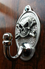 Skull and Cross Bones Key Hook (EXCLUSIVE DESIGN)  English Pewter