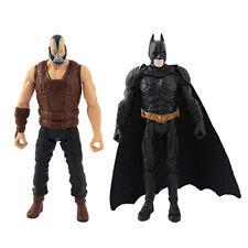 2x The Dark Knight Rises ARKHAM CITY Batman/Bane 10cm PVC Authentic LTD Figure