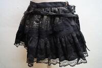Minirock Rock Skirt Aderlass Gothic Steampunk schwarz/Bronze Gr.M