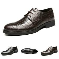 Men Business Leisure Leather Shoes Pointy Toe Formal Wedding Party Oxfords New L