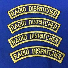4 Radio Dispatcher Rocker Patches (4 Patches)  Item# P17-17