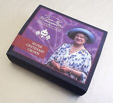 'Queen Mother's 100th Birthday' 2000 Silver Proof £5 Five Pound. Cased + COA.