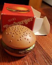 Vintage Avon Funburger Lip Gloss Compact With Box 1970s fun novelty hamburger
