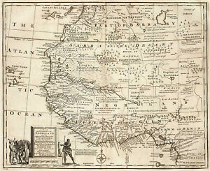 Negroland Map 1747 West African American History Slave Trade Wall Art Poster