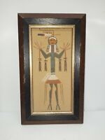 "Vtg Navajo Native American Sand Art Painting Framed 10""x6"""