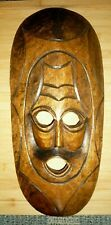 Large Hand Carved Crafted Wooden African Tribal Mask Wall Hanging 50cm
