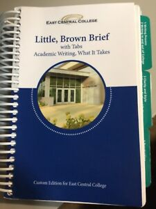 EAST CENTRAL COLLEGE, Little, Brown Brief with tabs