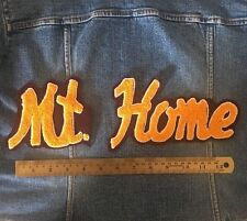 Chenille Patch Mt Home Yellow Red Vintage Letterman Sew On Embroidered