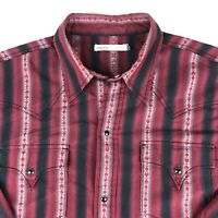 levis strauss Mens Vintage Western Snap Button Front Shirt Size Medium Plaid