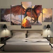 Game of Thrones Daenerys Targaryen Jon Snow Ned Stark 5 Piece Canvas Wall Art
