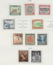 10 Niue Stamps from Quality Old Antique Album 1950-1953