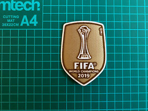 Liverpool FIFA Club World Cup Champions 2019 Football Badge / Patch New.