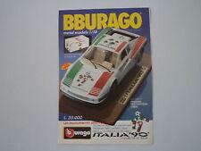 advertising Pubblicità 1989 BBURAGO FERRARI TESTAROSSA