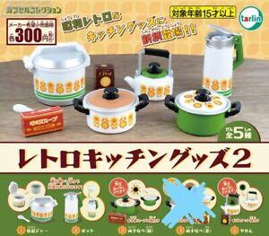 Set of 4  1/6 Capsule miniature Tarlin Nostalgic Showa retro kitchen goods Set B