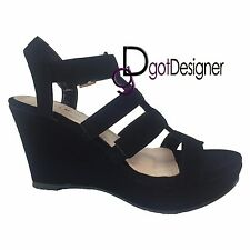 NEW Strappy Gladiator Wedge Sandal~Open Toe High Heel Women Platform Pump Sizes