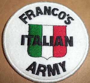 PITTSBURGH STEELERS RARE FRANCO HARRIS FRANCO'S ITALIAN ARMY PATCH