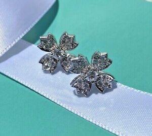 Tiffany & Co. Diamond Flower Earring, Platinum