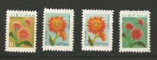 4 timbres sans gomme Vietnam 1978 Y&TN°114/117 fleurs du vietnam /T6213
