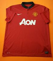 4.3/5 Manchester United jersey XL 2013 2014 shirt 532837-624 Nike soccer ig93
