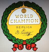 HUSQVARNA World Champion réplica Calcomanía Crest